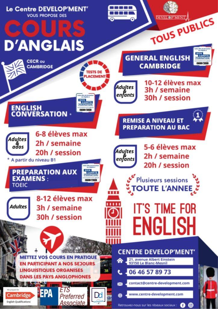 formations certifiantes anglais