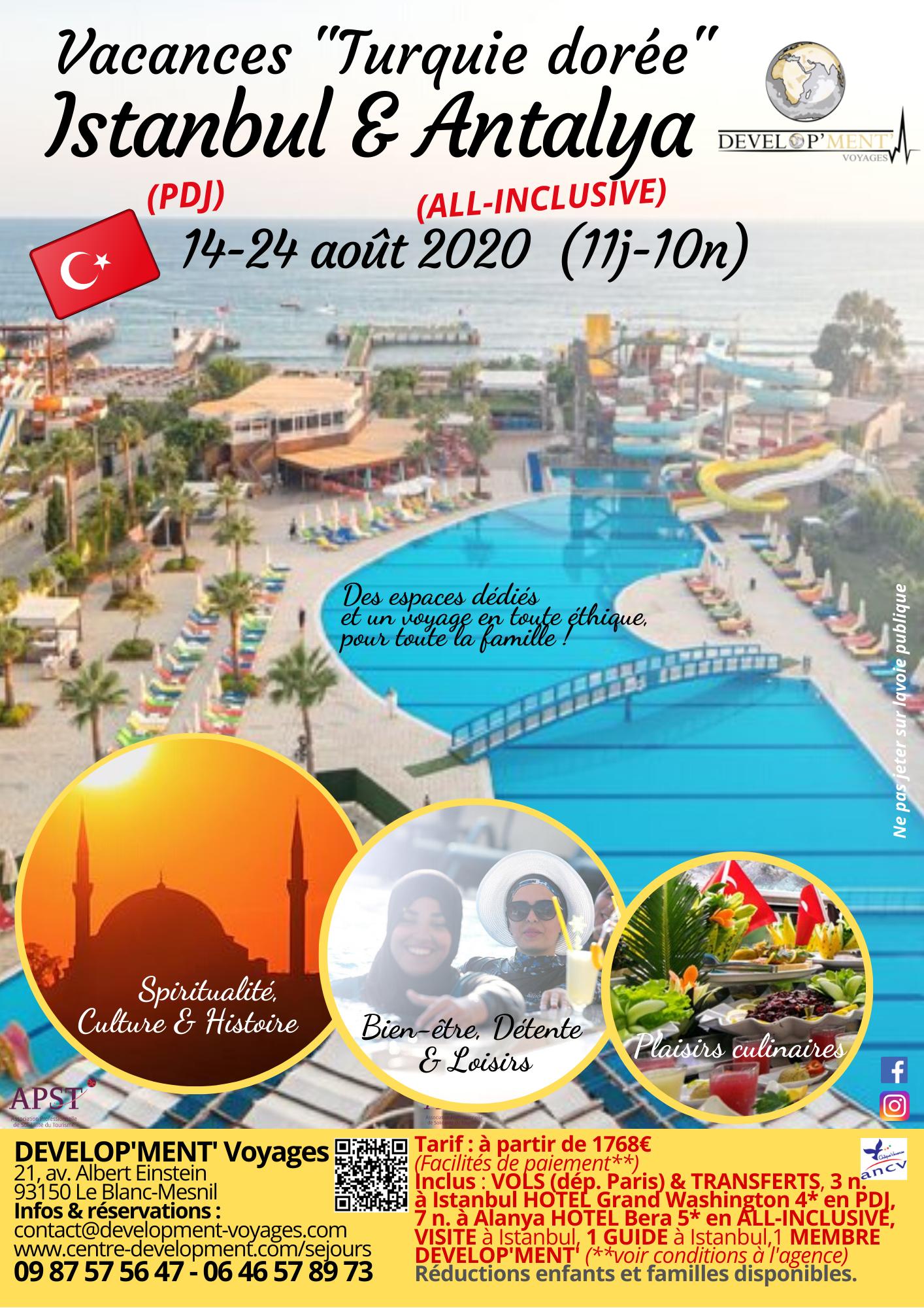 1 séjour en Turquie